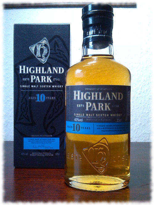 Highland Park 10 Years Single Malt Whisky Flasche