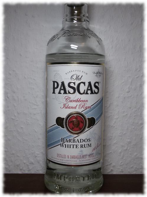 Old Pascas Barbados White Rum Flasche