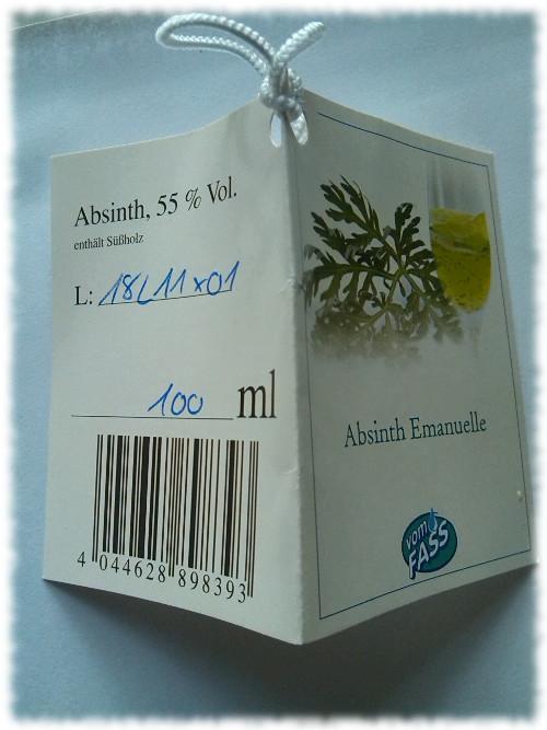 Absinthe Emanuelle Etikett