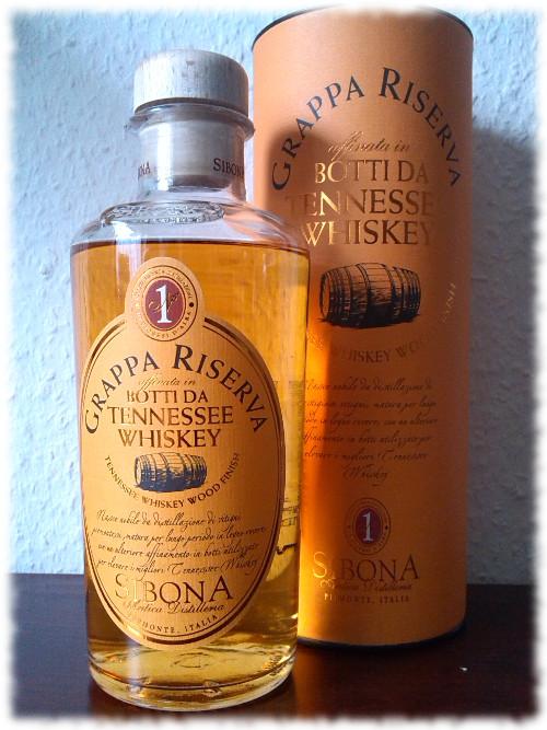 Grappa Sibona Tennessee Whiskey Wood Finish Flasche
