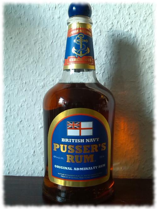 Pusser's British Navy Rum Flasche