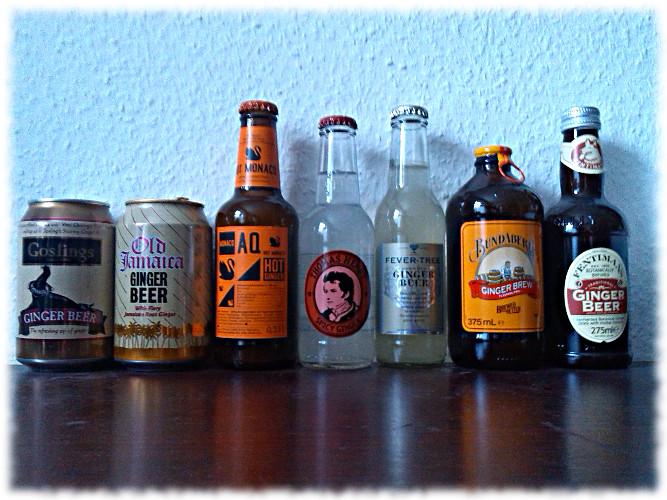 Die glorreichen Sieben – 7 Ginger Beers imVergleich