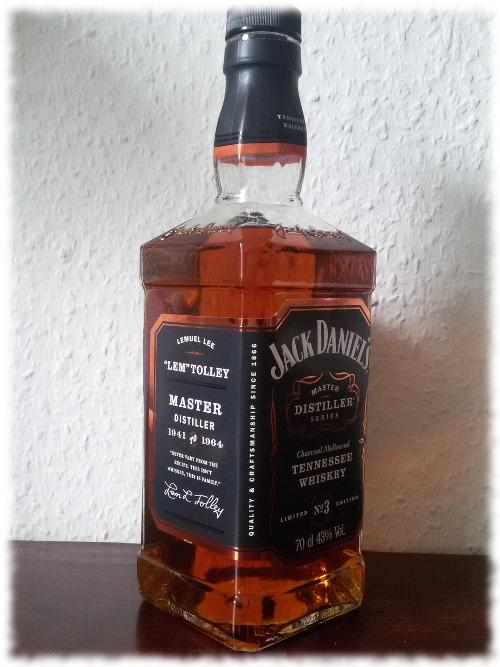 Jack Daniel's Master Distiller Series No 3 Flasche Schrägansicht