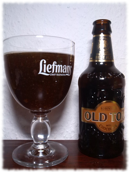 Robinsons Old Tom with Chocolate Glas
