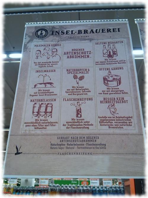 Insel-Brauerei Sortiment Aushänge