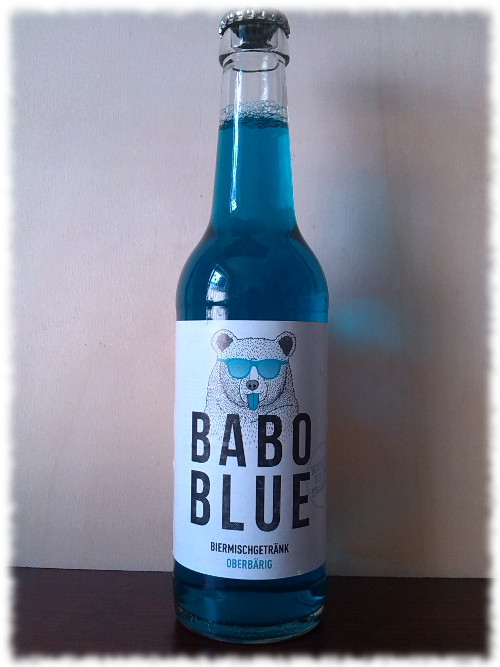 Babo Blue Biermischgetränk Flasche