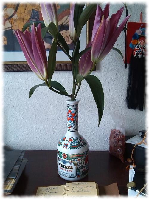Metaxa Grande Fine Blumenvase
