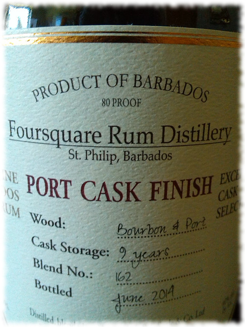 Foursquare Port Cask Finish Barbados Rum Etikett