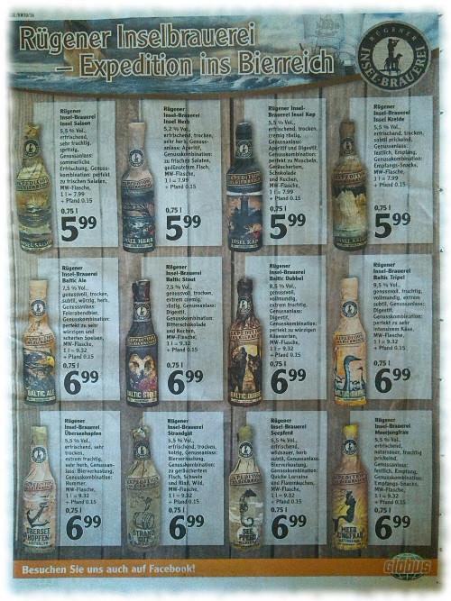 Rügener Insel-Brauerei Werbeprospekt