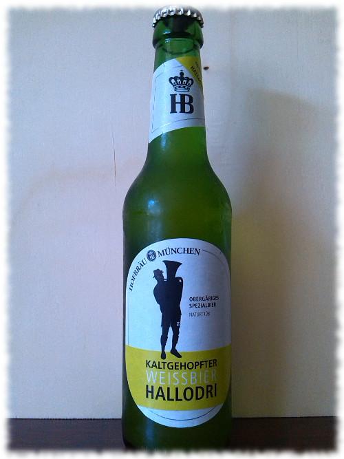 Hofbräu Kaltgehopfter Weissbier Hallodri Flasche