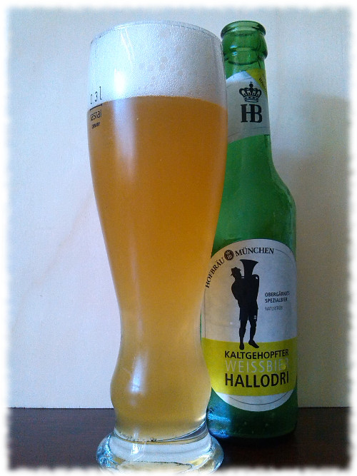 Hofbräu Kaltgehopfter Weissbier Hallodri Glas