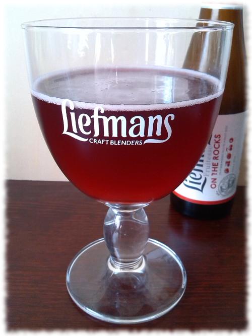 Liefmans Fruitesse on the Rocks Glas