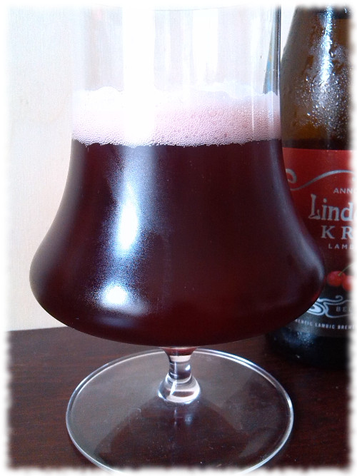 LIndemans Kriek Lambic Beer Glas