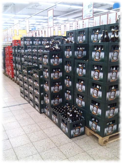 Saarländischer Getränkemarkt mit Urpils