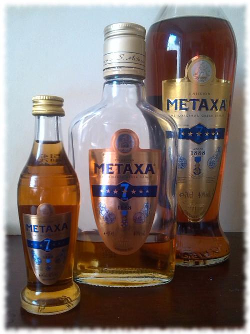 Metaxa 7 Stars Verschiedene Größen