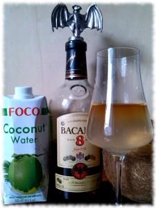 Bacardí 8 Años mit Kokoswasser