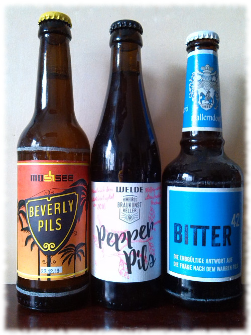 Beverly Pils, Pepper Pils, Bitter 42 Flaschen