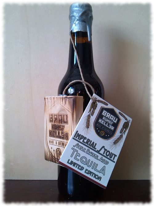 BrauKunstKeller Imperial Stout Single Barrel Aged Tequila Limited Edition Flasche