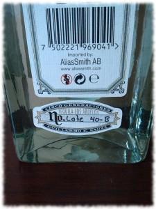 Fortaleza Tequila Blanco Rücketikett