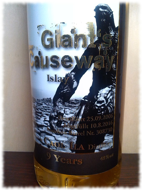 The Whisky Tower Giant's Causeway Islay Etikett
