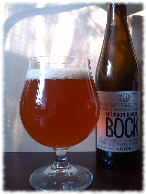 Welde Bourbon Barrel Bock Glas