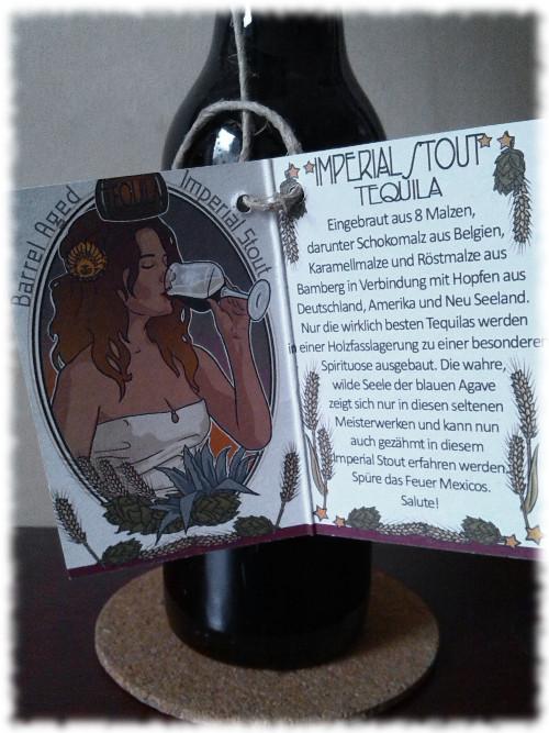 BrauKunstKeller Imperial Stout Single Barrel Aged Tequila Limited Edition Umhänger