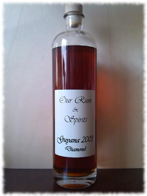 Our Rum & Spirits Guyana 2003 Diamond Flasche