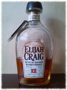 Elijah Craig 12 Kentucky Straight Bourbon Whiskey Flasche Normaletikett