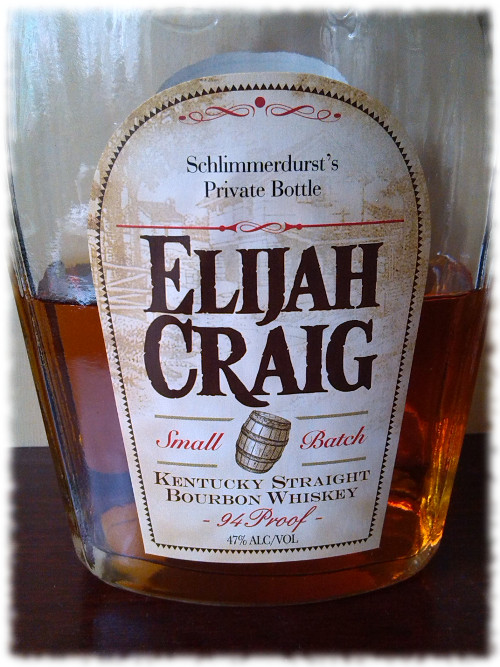 Elijah Craig 12 Kentucky Straight Bourbon Whiskey Flasche Spezialetikett