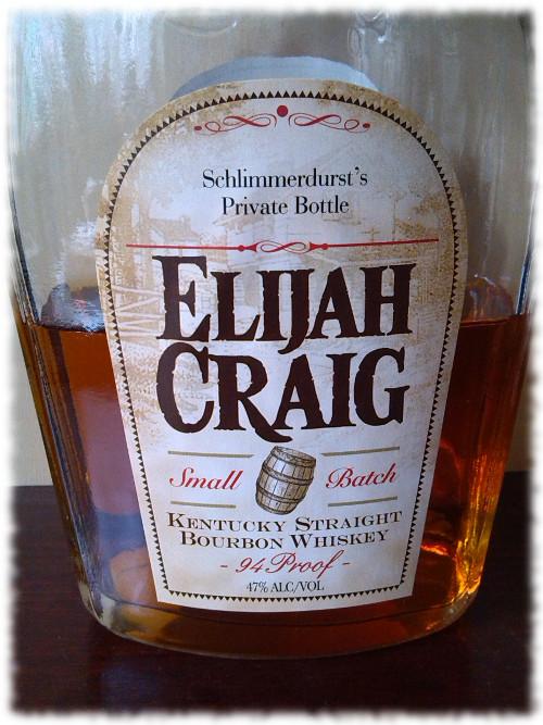 Elijah Craig 12 Kentucky Straight Bourbon Whiskey Flasche Spezialetikett