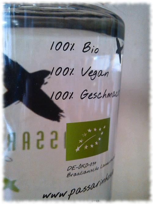 Passarinho Cachaça Organica Biosiegel