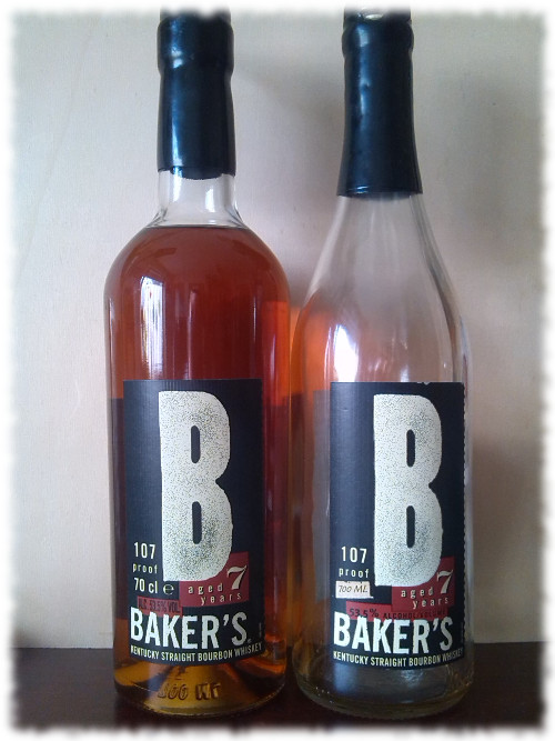 Baker's Kentucky Straight Bourbon Whiskey alte und neue Flasche