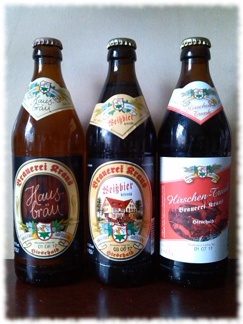 Brauerei Kraus Hausbräu 3 Sorten
