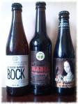 Drei fassgereifte Biere Flaschen