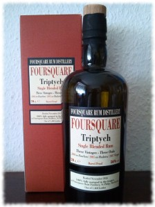 Foursquare Triptych Single Blended Rum Flasche