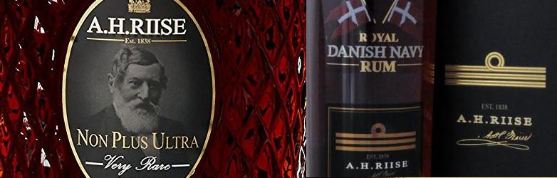 A.H. Riise Non Plus Ultra und Royal Danish Navy Rum Titel