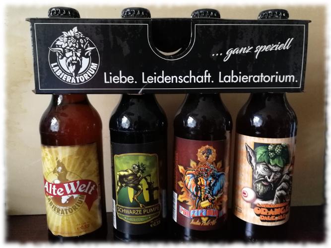 Labieratorium Biere Flaschen