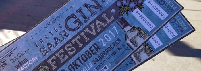 Das erste Mal – 1. GIN FestivalSaar