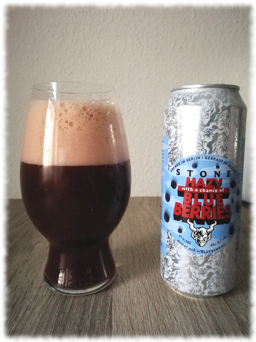 Stone Hazy, with a Chance of Blueberries Wheat Ale