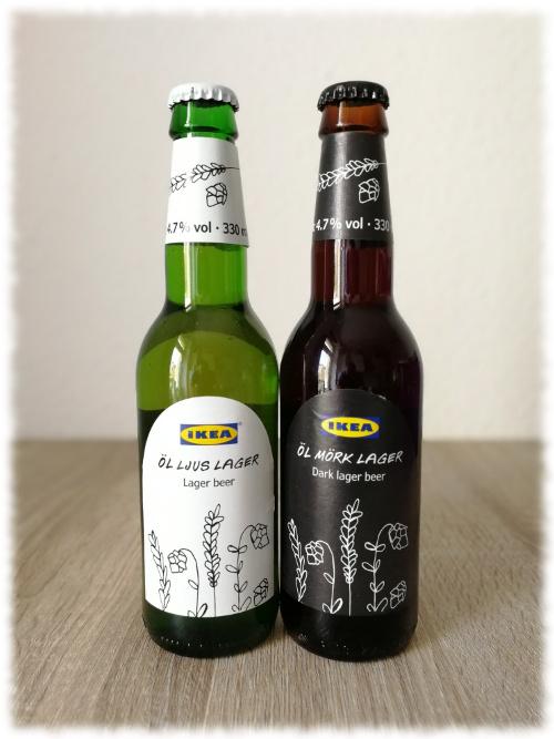 Ikea Öl Mörk Lager und Öl Ljus Lager