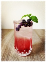 Blueberry Mint Gin Cocktail