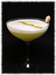 Pistachio Gin Sour Cocktail