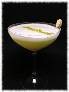 Pistachio Gin Sour Cocktail