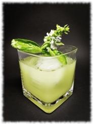 Tequila Basil Smash Cocktail