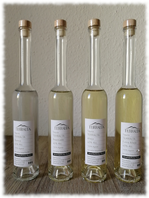 Terralta Tequila Samples