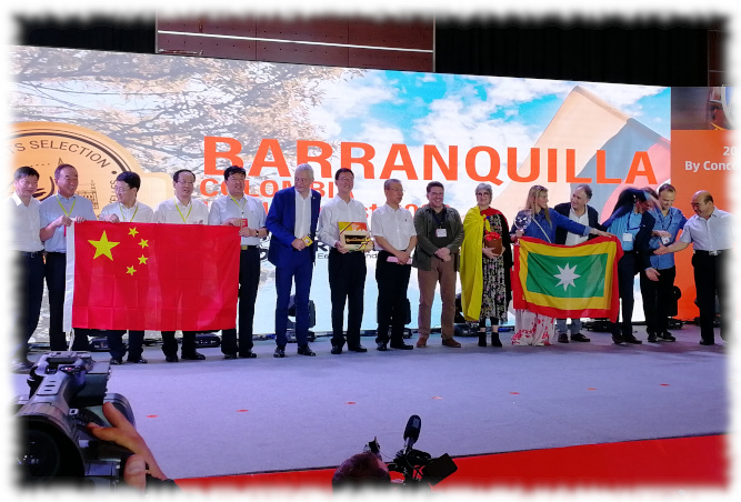 Spirits Selection 2019 - Übergabe an Barranquilla
