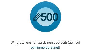500 Artikel Badge