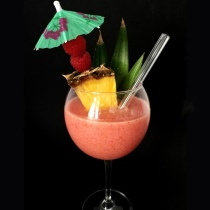 Raspberry Colada Cocktail