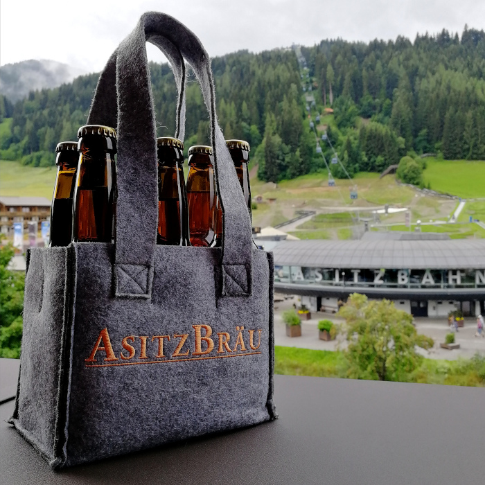 AsitzBräu Tragerl mit Flaschen