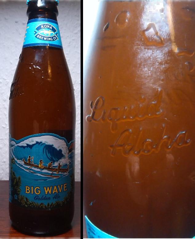 Kona Brewing Big Wave Golden Ale Vergleich mit Flasche